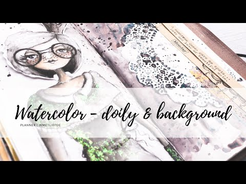 PLANNER // watercolor doily & background