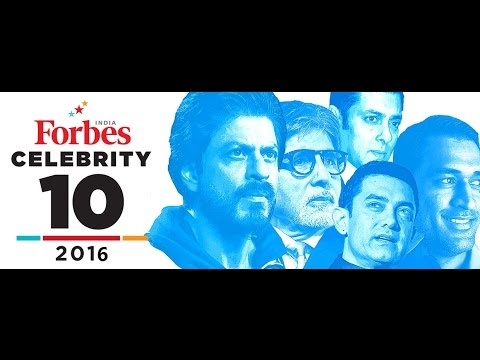 List of top ten Indian celebrity by Forbes 2016