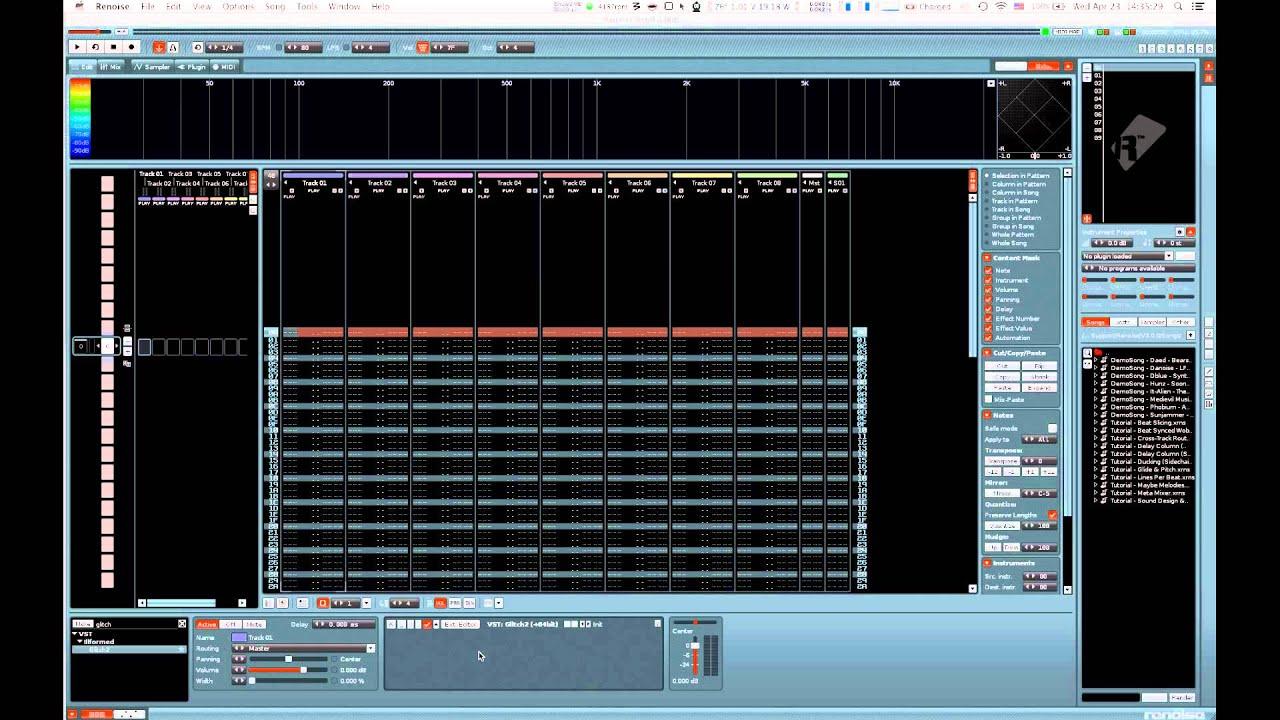 Renoise 3 0 tutorial - Midi input to VST Effect