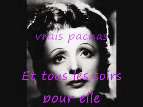 EdithPiaf. l'accordéoniste + paroles