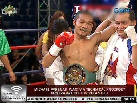 24 Oras: Michael Farenas, wagi via technical knockout kontra kay Hector Velazquez