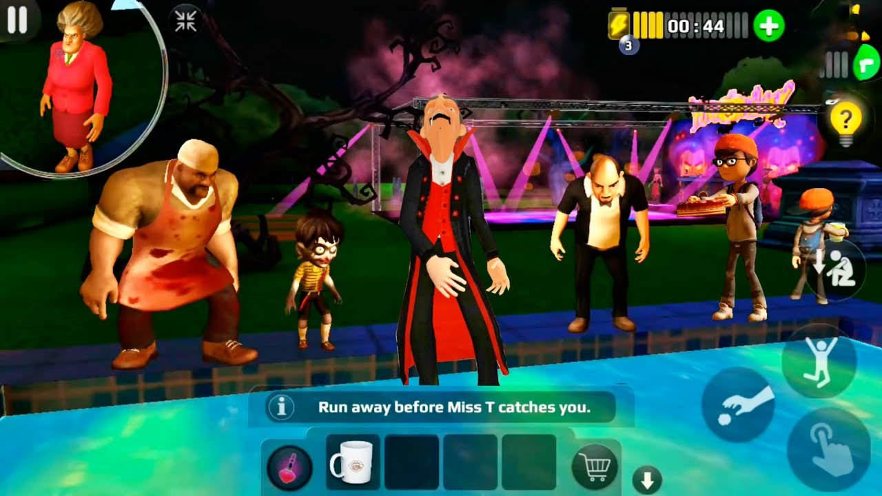 Download Scary Teacher 3D - Vampire Prank Miss T Halloween Update Levels (Android/iOS)