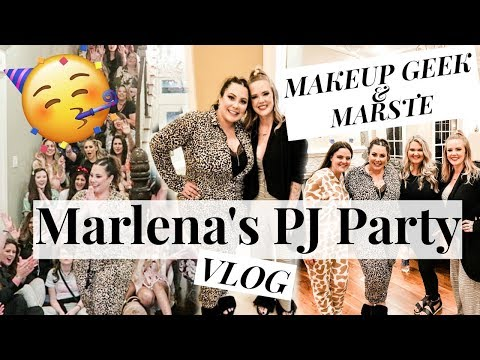 what-it-was-really-like!-marlena-stell-makeup-geek-pj-party-2019-//-mallory1712
