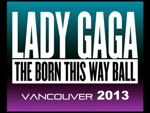 Lady Gaga - Born This Way Ball Vancouver 2013 - Calls Fan in the audience for Charity