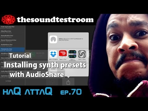 Installing synth presets with AudioShare on iPad │ Tutorial haQ attaQ 70