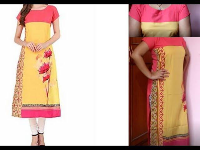 Unboxing  of Amazon Ethnic 4 You Womans Digital Printed Crepe Straight cut Kurta Rs 299  Pink kurta