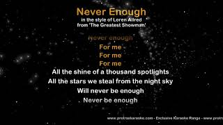 Never Enough - ProTrax Karaoke Demo