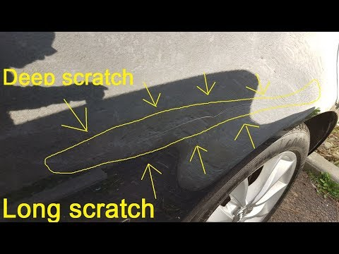 DIY – Deep & long scratch car repaired