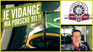 Vidange huile moteur Porsche 911 type 964