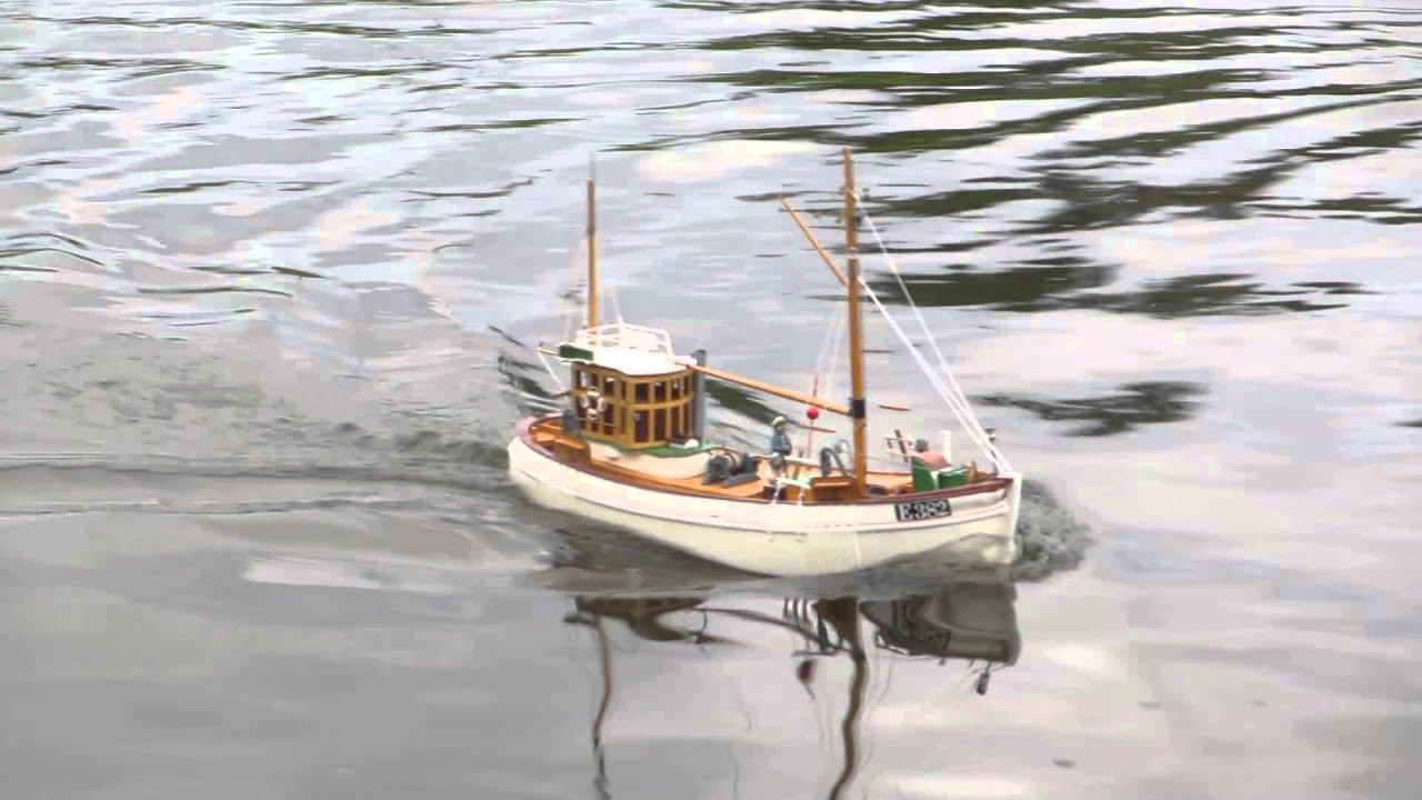 Mary ann scratch built rc scale model fishing boat youtube for Rc fishing boat
