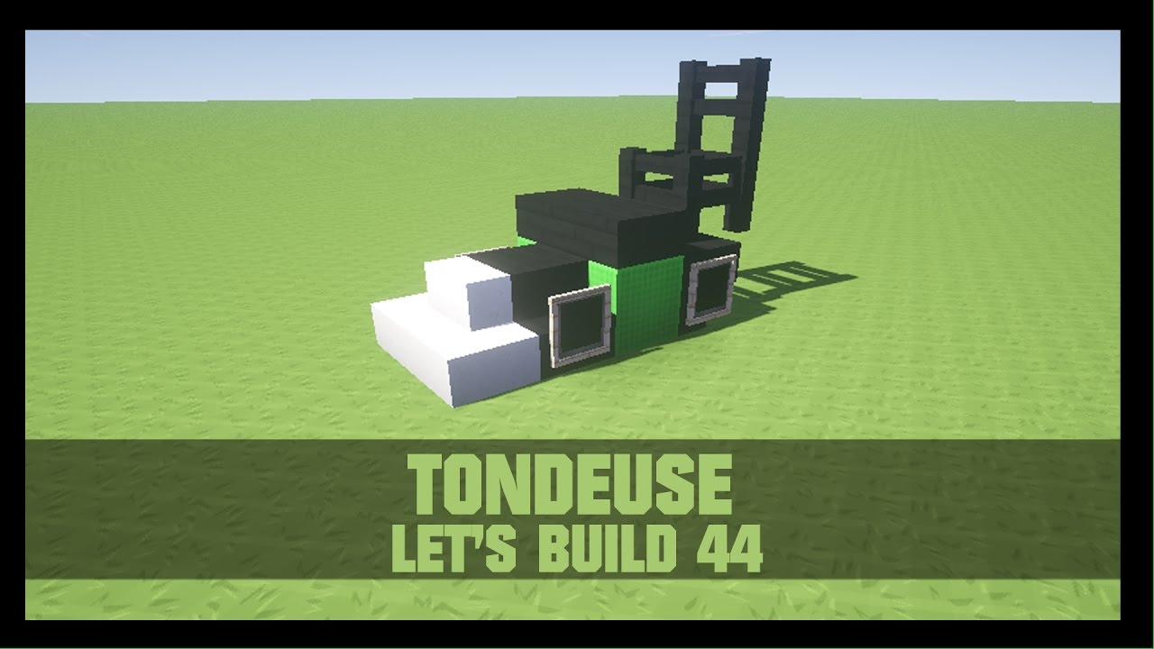 tuto comment construire une tondeuse dans minecraft youtube. Black Bedroom Furniture Sets. Home Design Ideas