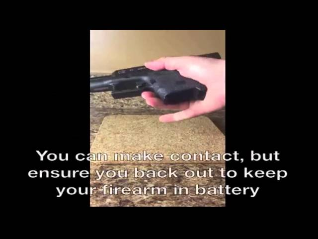 Semi-Automatic Slide in Battery During Contact Shot