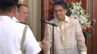 Oath-taking of DILG Secretary Mar Roxas 9/29/2012