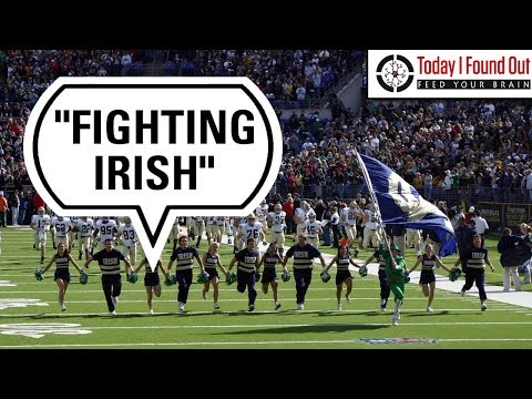 Why the French Founded Notre Dame School's Athletic Teams are the Fighting Irish