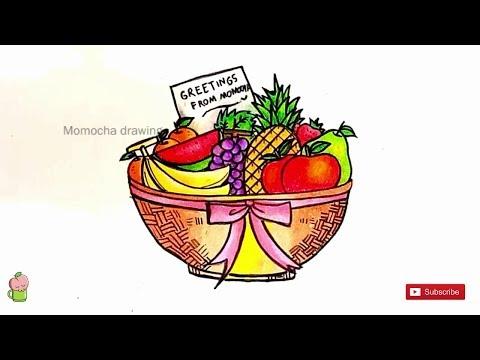 Buah Buahan Cara Menggambar Dan Mewarnai Dengan Gradasi Warna Oil Pastel Crayon Youtube