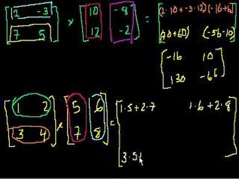 matrix multiplication part   youtube