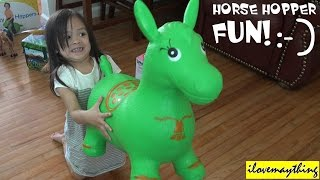 Cool Toys for Kids: Playing a Horse Hopper with Hulyan & Maya Girl :-)