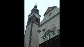 Villnöss-St. Peter/Funes-San Pietro (I): Pfarrkirche St. Petrus u. Paulus: Abendangelus +Tlg.
