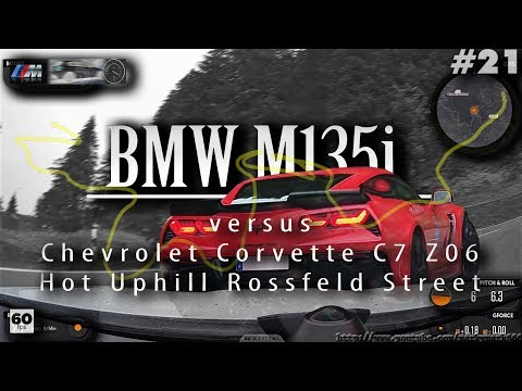 BMW Mi vs Chevrolet Corvette C Z Hot Uphill Rossfeld Panorama Street South ramp Waylens™ #