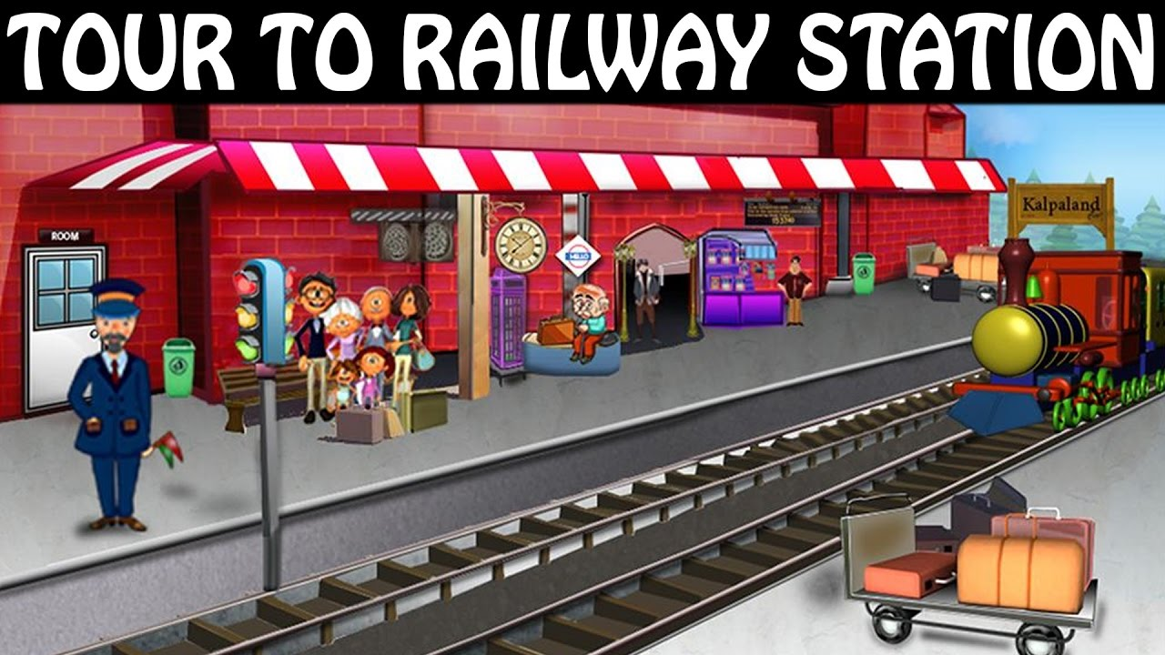tour to railway station trains for kids railway station for