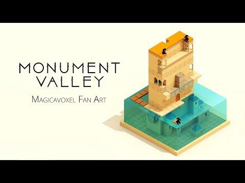 Monument Valley - Magicavoxel fan art