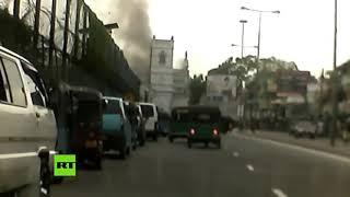 El momento exacto de la explosión en una iglesia de Sri Lanka