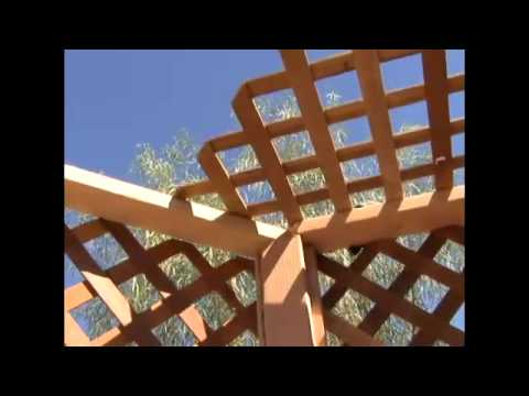 How To Build A Gazebo 17 Installing Gazebo Roof Lattice