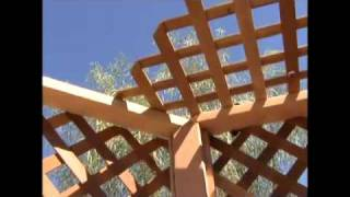 How To Build A Gazebo - 17.installing Gazebo Roof Lattice