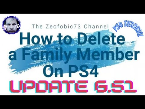 Sony PS4 - (Updated) How to Delete a Family Member On PS4/Tutorial