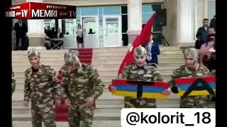 Online Video Shows Azeri Soldiers Destroying Planks with Armenian Flag Painted on Them