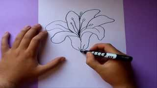 Como dibujar una flor paso a paso  | How to draw a flower