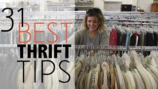 31 BEST Thrift Store Tips |  Shopping Guide