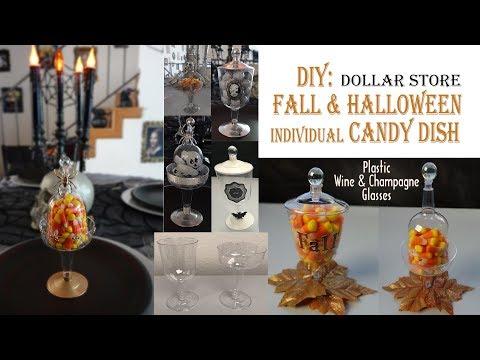 FALL HALLOWEEN DIY / CANDY DISH / Dollar Store