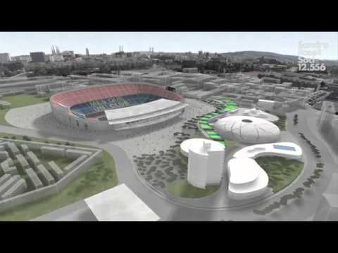 The club will build the new palau blaugrana 3d youtube for Puerta 0 palau blaugrana