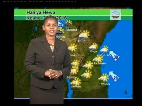 Tanzania Weather Forecast 25/09/2016