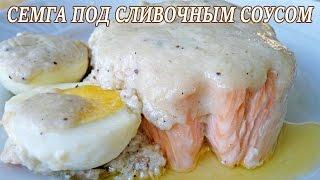 Семга под сливочным соусом. Рецепт семги под сливочным соусом