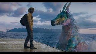 Percy,Annie & Tyson Riding in Hyppocampus   Percy Jackson (2013)
