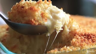 Three Cheese Mac and Cheese with Panko Bread Crumb Topping