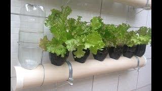 Como fazer uma Horta Vertical com Garrafa Pet com Irrigação Automática