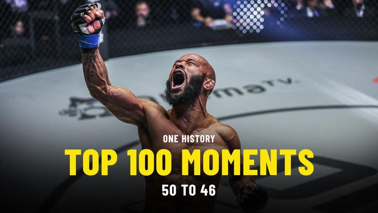Top 100 Moments In ONE History   50 To 46   Ft. Demetrious Johnson, Joshua Pacio, Angela Lee &