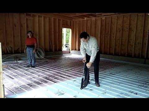 Pex Tubing Down In New Radiant Floor