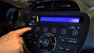 2012 Honda Fit - How to Set Time on the Clock