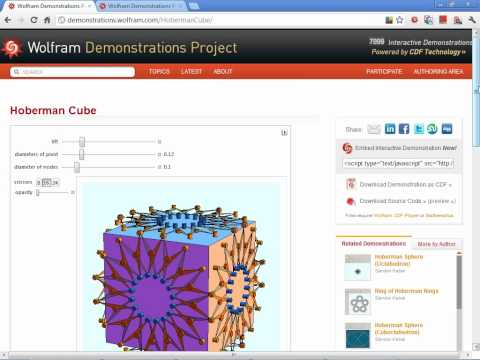 Mathematica Experts Live: Getting Inspiration From The Wolfram Demonstrations Project