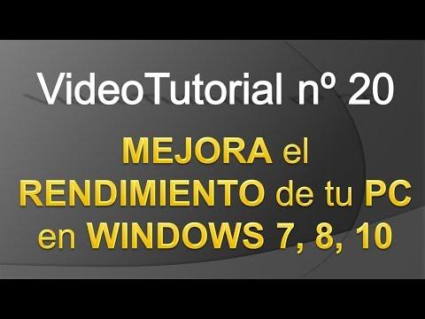 TPI - Videotutorial nº 20 - Cómo mejorar el rendimiento de nuestro PC en Windows
