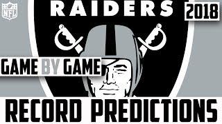 OAKLAND RAIDERS RECORD PREDICTION 2018 - Predicting The Oakland Raiders 2018 Record (NFL)