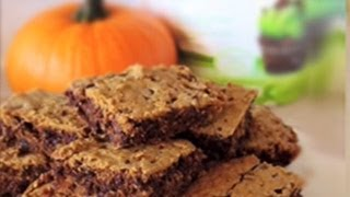 {dessert Recipe} Healthy & Delicious Pumpkin Blondies By Cookingforbimbos.com