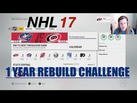 1 YEAR REBUILD CHALLENGE - NHL 17