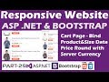 Responsive Website ASP NET Bootstrap Part 29 Online Shopping Site Cart Dynamic Data Sever Currency mp3