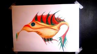 How to draw Longnose fish