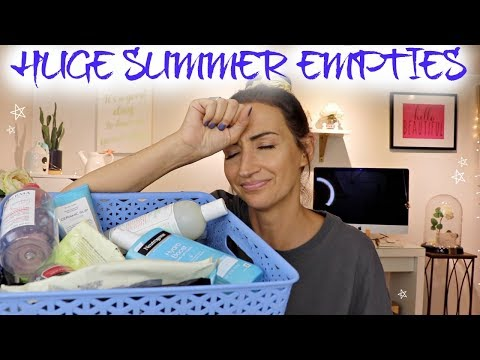 enormous-summer-empties-|-skincare,-makeup-&-body-care